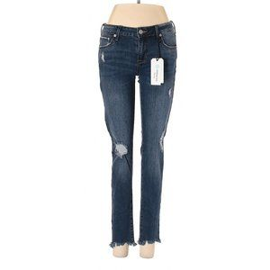 janelle destroyed cuffed crop straight leg jean womens